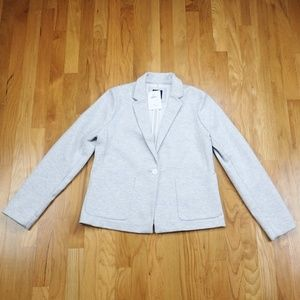 NWT GAP Light Gray Knit One Button Career Blazer